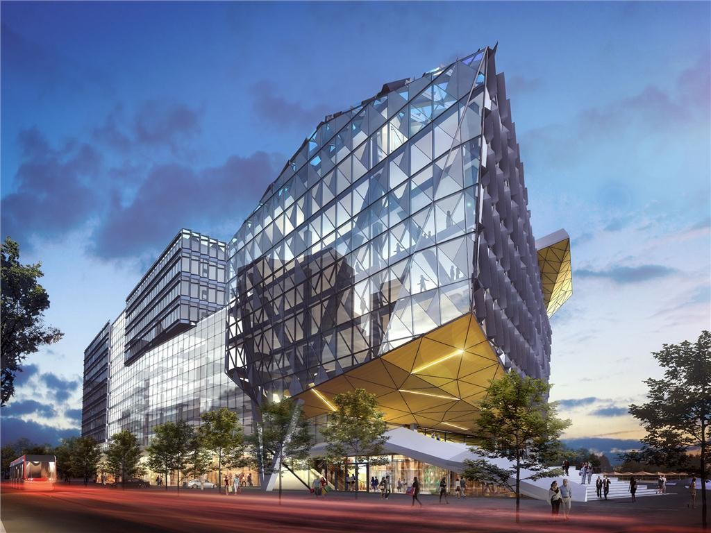 Artist's rendering of the proposed 350,000 sq.-ft. Waterfront Innovation Centre