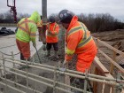 Highway 407 phase 1 east expansion diaphragm pour at structure M13