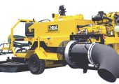 Neal Manufacturings DA-350 features a blower that produces more than 6,000 cfm, triple the output of a typical walk-behind blower, for debris clearing