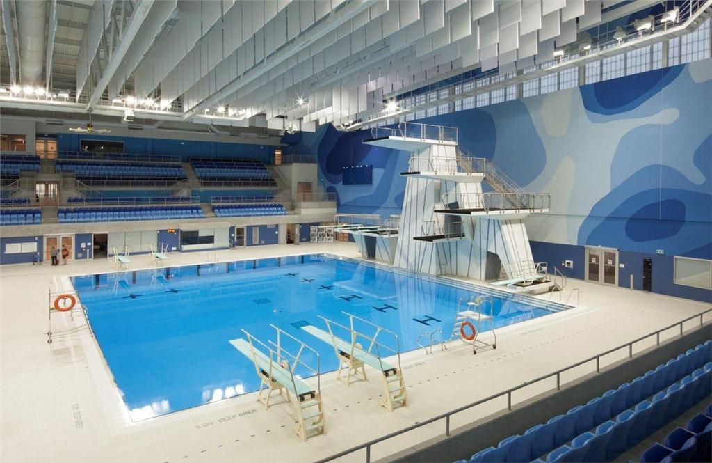 Interior of the Toronto Pan Am Games Aquatics Centre