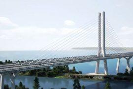 Rendering of Montreal's new Champlain Bridge