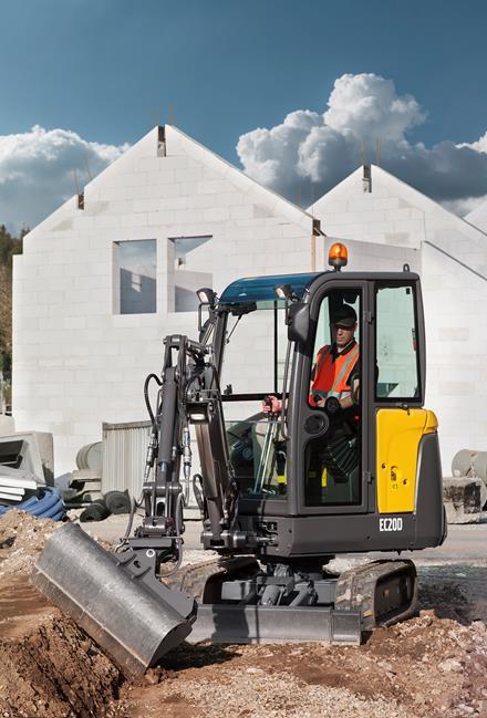 Volvo EC20D compact excavator