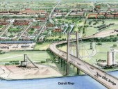 The Gordie Howe International Bridge is expected to be completed and in service in 2020. It will connect to the Herb Gray Parkway and Interstate 75