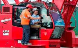 Liberal Leader Justin Trudeau took the controls of a crane during a campaign stop to outline the party's infrastructure investment plan.