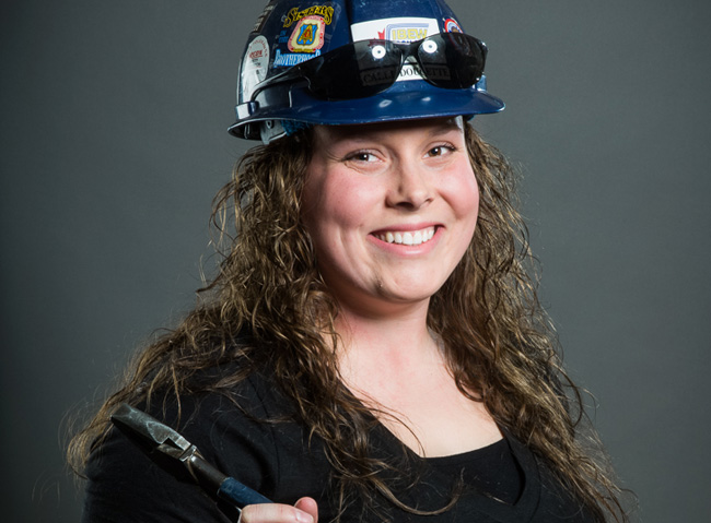 Calli Zwierschke is part of the changing face of construction. The 24-year-old began her career in the skilled trades five years ago, and is proud to be an apprentice electrician.