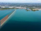 Artist's rendering of the new wastewater outfall for Ashbridges Bay in Toronto