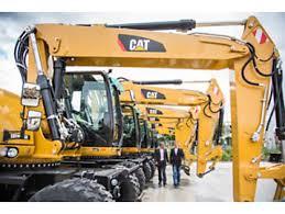 Cat four wheel excavators