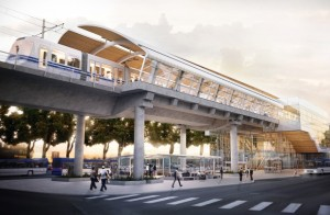 Artist's conception of the a station on Edmonton's Valley Line LRT expansion project