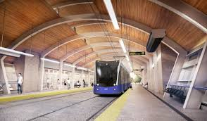 Artist's conception of the interior of a station on Edmonton's Valley Line LRT expansion