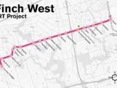 finch west lrt map