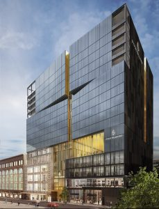Rendering of the Four Seasons Hotel and Private Residences Montreal on de la Montagne Street, a Carbonleo project (CNW Group/Carbonleo)