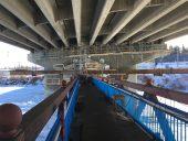SITE.CROW. Underside of bridge + pedestrian footbringe. Photo courtesy Graham