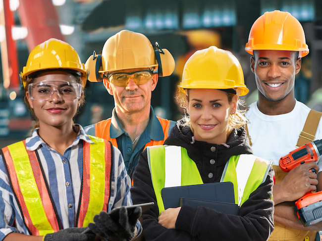 Construction workers diversity