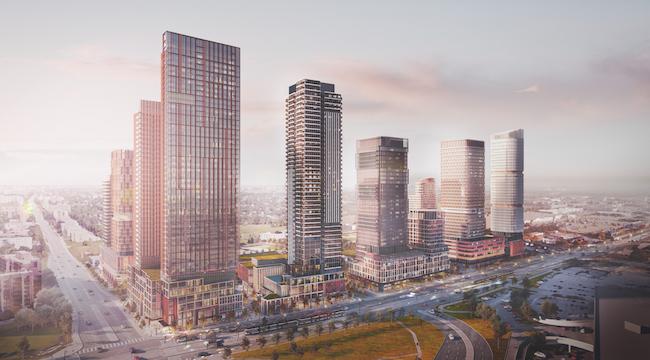Golden Mile Master Plan – Northeast View