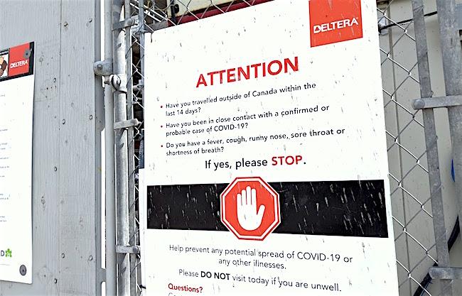 covid warning sign deltera