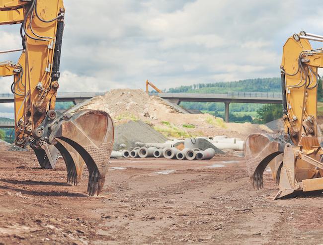 the motorway construction