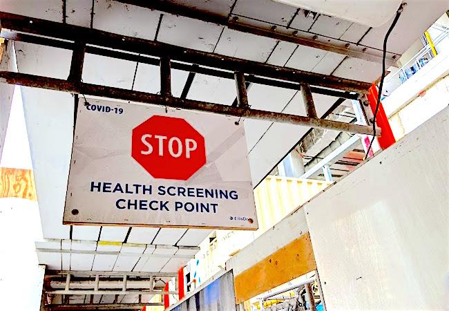 covid health screening sign ellisdon