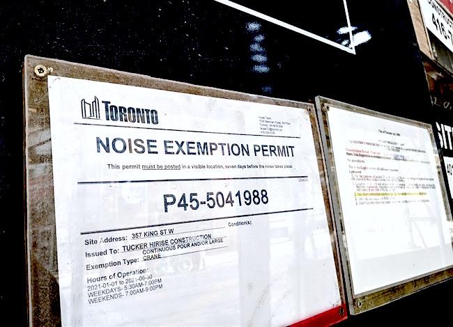 noise exemption permit toronto