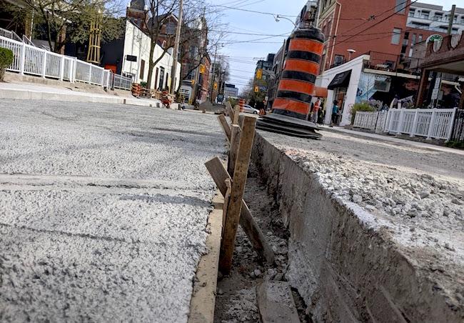 residential street toronto paving