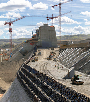 Site C_Roller Compacted Concrete-dam
